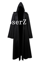New Star Wars Jedi Hooded Robe Cloak Cape Costume Black Darth Vader Cosplay Cost - $39.00