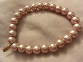 elasticared posh Vintage faux pearl bangle / bracelet LBVYR cream pearls - $9.93