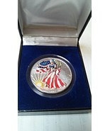 Liberty 1999 American Eagle Colorized 999 Fine Silver One Dollar $1 Coin - $34.99