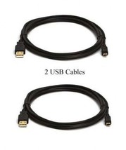 Two Usb Cables For Canon Ixus I Ixu Si 115 Hs 115HS Optura 300 400 500 600 S1 Xi - $10.50