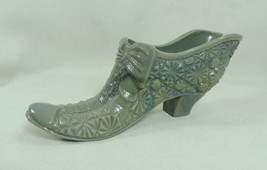 "5.5"" Daisy & Button Bow Slipper Oxford Grey Glass Bow Shoe 9/2/1987 - $18.69"