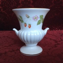 "RARE VINTAGE COLLECTIBLE WEDGWOOD CHINA FLORAL CERAMIC BUD VASE 4"" TALL ... - $14.00"