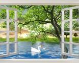 3D Natural window Duck tree Wallpaper Decal Dercor Home Kids Nursery Mural  Home