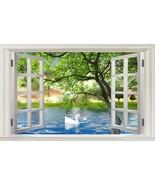 3D Natural window Duck tree Wallpaper Decal Dercor Home Kids Nursery Mur... - $38.43+