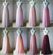 Women Blush Tulle Skirt Full Long Tulle Skirt, Blush Pink, High Waisted, Wedding image 10