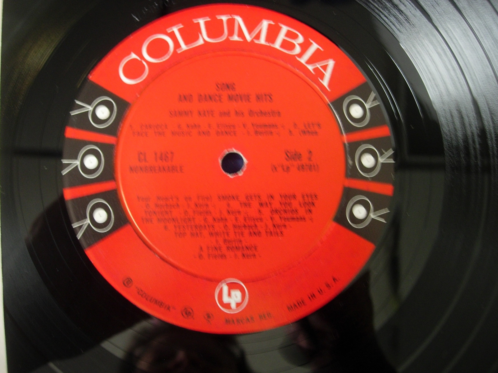 Sammy Kaye - Song and Dance Movie Hits - Columbia Records CL 1467