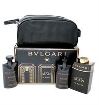 BVLGARI MAN IN BLACK 4 PIECE GIFT SET EAU DE PARFUM SPRAY 100ML NIB-BVL1... - $73.76