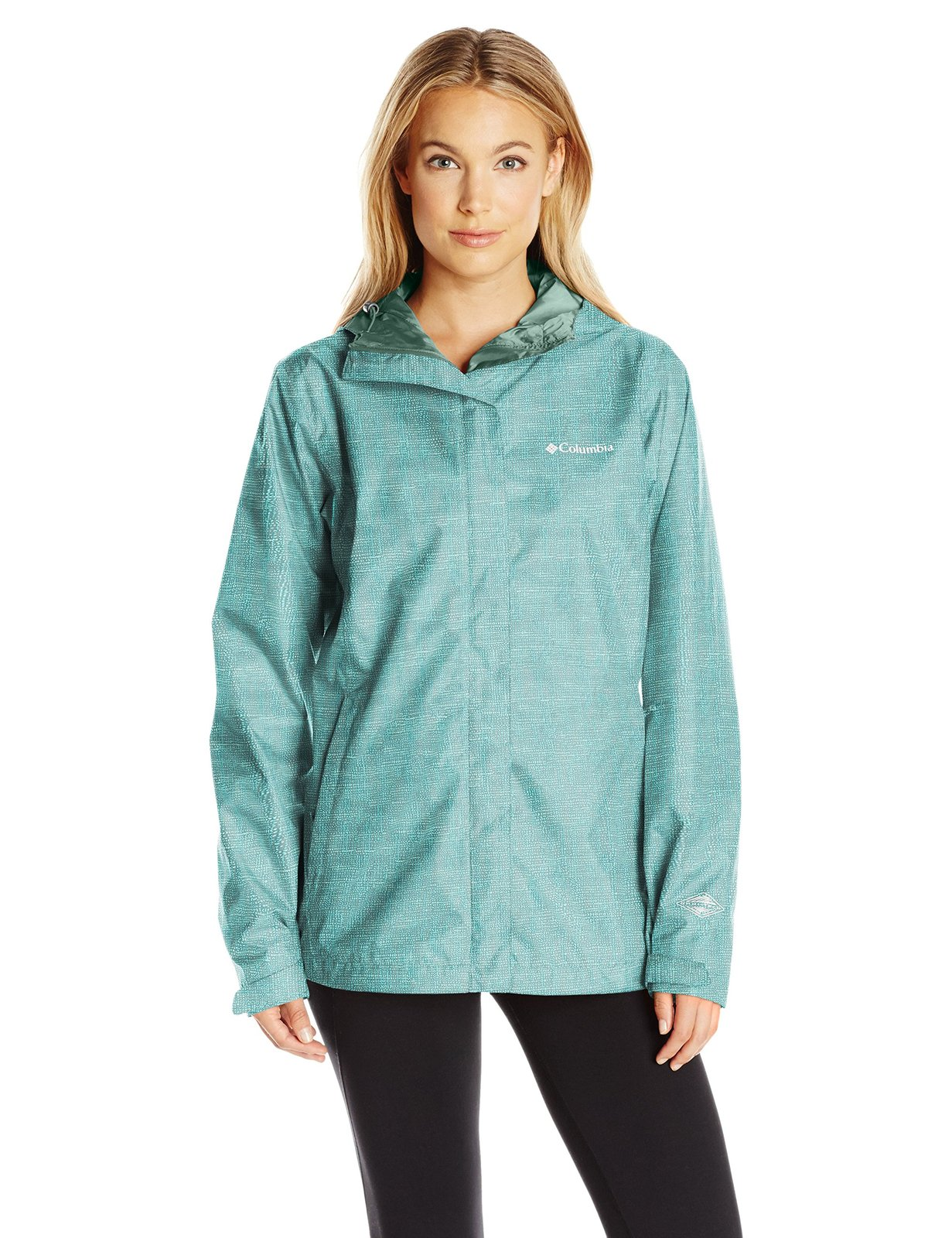 Columbia Women's Arcadia Print Jacket, Pond/Dotty Dye, Large