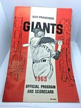 1963 San Francisco Giants Score Card vs Pirates Clemente HR, Mays 2 Hits, - $34.65