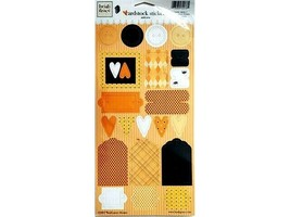 """Heidi Grace Designs Halloween Cardstock Stickers """"Jeepers Creepers"""", Set of 42"""
