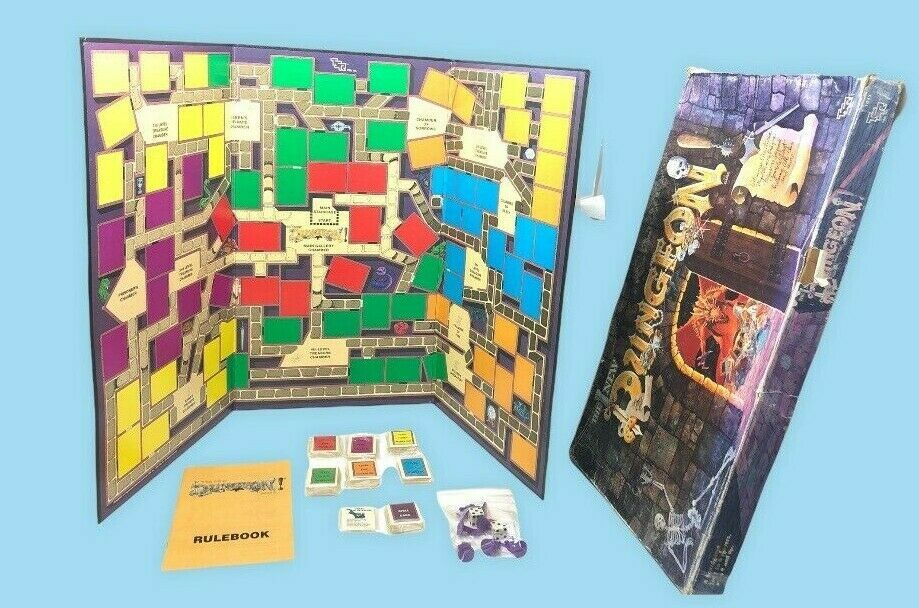 VTG RARE The New Dungeon Board Game TSR 1989 D&D Dungeons & Dragons COMPLETE - £37.99 GBP