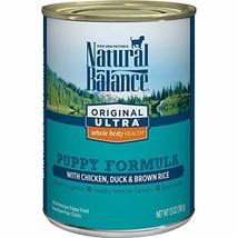 Natural Balance Original Ultra Whole Body Health Puppy Wet Dog Food, Chicken, Du - $82.96