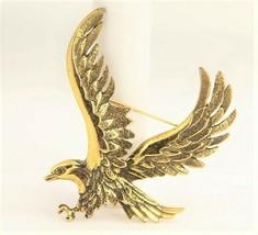 VINTAGE ESTATE Jewelry LARGE EAGLE IN FLIGHT VINTAGE BROOCH - $10.00