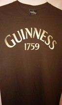Guinness Beer Shirt Pullover TShirt Brown Tee Irish Ireland Mens Size Me... - $14.20
