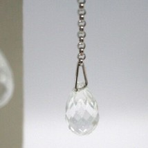 Drop Earrings White Gold 18k, Chain Rolo ' , Tourmaline Drop image 2