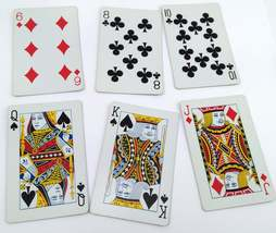 Set of 6 Dutch Girl Holding Flowers Playing Cards for crafting collage repurpose image 3