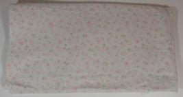 Small Wonders Pink Flowers Receiving Blanket 30x27in Security Lovey Baby... - $11.99