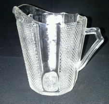 Jeannette Glass Dewdrop Creamer Pitcher Vintage 1950s Clear 4 and Forth ... - $18.99
