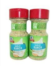 2x McCormick Garlic Ranch Seasoning powder 2.87 oz shaker bottles lot BB... - $23.71