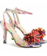NEW J CREW VIBRANT RAFFIA BOW ANKLE STRAP SANDALS SHOES HEELS WOMEN'S 9 ... - $99.00