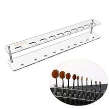 Acrylic Makeup Brushes Holder Organizer 10 Holes Cosmetics Brushes Oval ... - $19.62