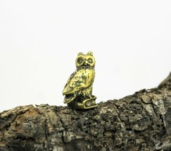 Brass Owl Miniature Collectible Souvenir Vintage Sculpture Figurine Owl ... - $13.10