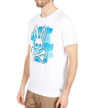 Men's Psycho Bunny Short Sleeve Tee Logo Graphic Shirt Newton White T-Shirt image 5