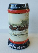 """Vintage 1990 BUDWEISER Holiday Beer Stein """"An American Tradition"""" collectable - $14.84"""