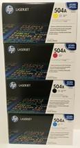 HP LASERJET CP3525 - CM3530 - 504A FULL SET - CE250X - CE251A - CE252A -... - $247.49