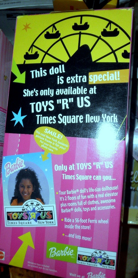 "Barbie Doll  - Toys 'R"" Us Times Square Barbie,  New York (AA)"