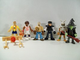 LOT OF 6 IMAGINEXT ACTION FIGURES DINO TRIBAL WARRIOR WITCH RIG DRIVER P... - $17.59