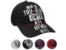 True Religion Men's World Tour Cities Print Baseball Trucker Hat Cap TR1952