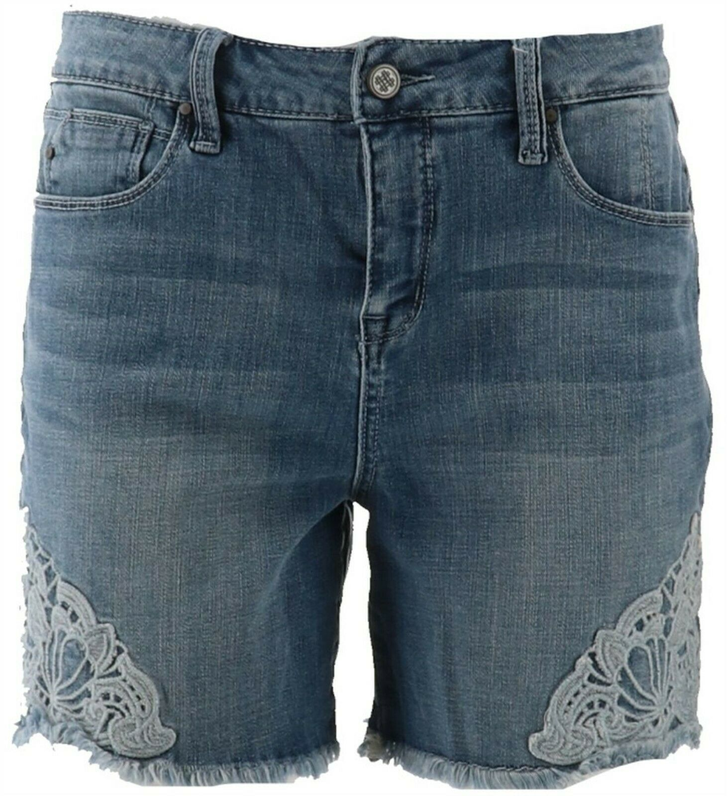 Primary image for Laurie Felt Denim Weekender Shorts Crochets Brushed Varsity 16 NEW A352675
