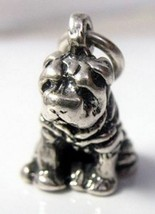 NICE Shar-pei Charm Sterling Silver 925 3D New  Dog puppy Pendant Jewelr... - $24.76