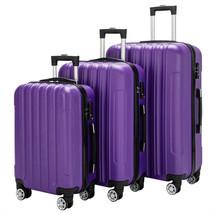 3-in-1 Multifunctional Large Capacity Traveling Suitcase Luggage Set Purple - $104.81