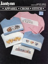 Sweatshirt Collection Sweats Kitten Bunny Heart Chick Cross Stitch Pattern - $2.22