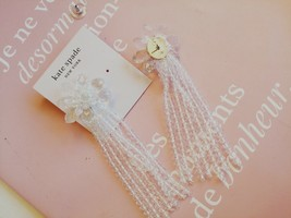 Kate Spade New York White Crystal Flower Drop Earring - $33.65