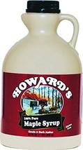 HOWARD'S Pure 100% Grade A Dark Amber Maple Syrup | Gluten Free, Premium Sourced