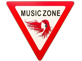 Wooden Room Signs Wood 'Music Zone' Designed Plaque Novelty Placard Grea... - €1,73 EUR