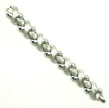 Vintage Silver Tone Hugs and Kisses XOXO Link Bracelet - $17.82
