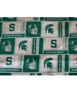 MICHIGAN STATE UNIVERSITY SPARTANS COTTON FABRIC 1/4 YD for Mask FREE SH... - $24.99