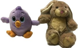 "Build A Bear Mini 8"" Bunny & 5"" Purple Duck Plush Easter Lot Spring Stuf... - $17.33"