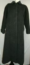 Womens Anne Klein Heathered Black Wool Blend Long Dressy Coat Petite 14 EUC - $69.99