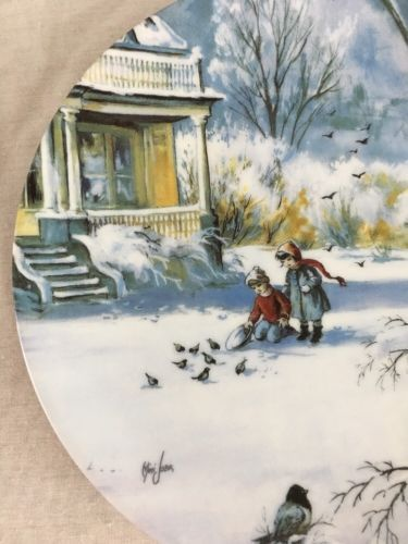 Knowles Natures Child Collector Plate Faithful Friends  Mimi Jobe 1990 4th Issue