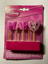 Old 2012 Disney Happy Birthday & Minnie Mouse Candles Bnip (Rmd) - $13.65