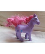"""5"""" Purple Pony with Pink hair Horse with 3 stars - Toy Collectible, pre-... - $10.35"""