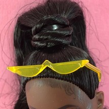 Barbie Yellow Sun Glasses Plastic Translucent Cateye Bmr 1959 Accessory For Doll - $2.50
