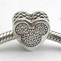 Auténtico Pandora Disney Mickey y Minnie Verdadero Amor Charm, 792050CZ,... - $75.78