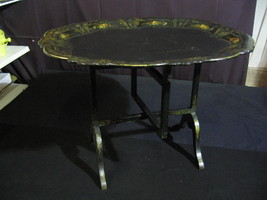 Mid 19th Century English Victorian Papier Mache Table / Tray With Foldin... - $795.00