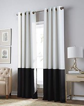 Kendall Blackout Color Block Room Darkening Grommet Curtain Panel, 50 x ... - $45.03
